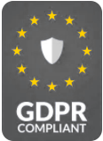 GDPR compliant patient record system logo grey