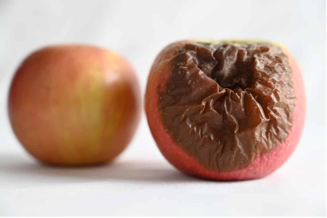 Före efter bild äpple